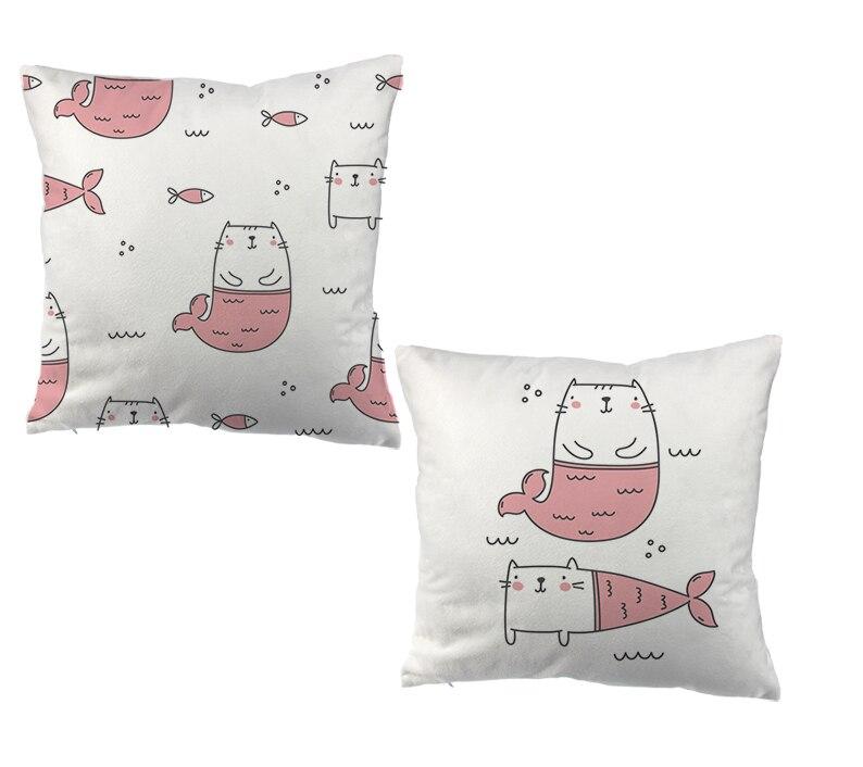Cartoon Katze Der kissenbezug sofa wirft home decor kissen für bürostuhl
