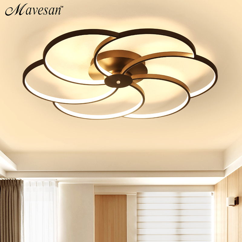 Us 97 0 49 Off Modern Led Ceiling Light For Large Living Room Bedroom Lighting Fixtures Lamp Luminaires Home Ac110v Ac220v In
