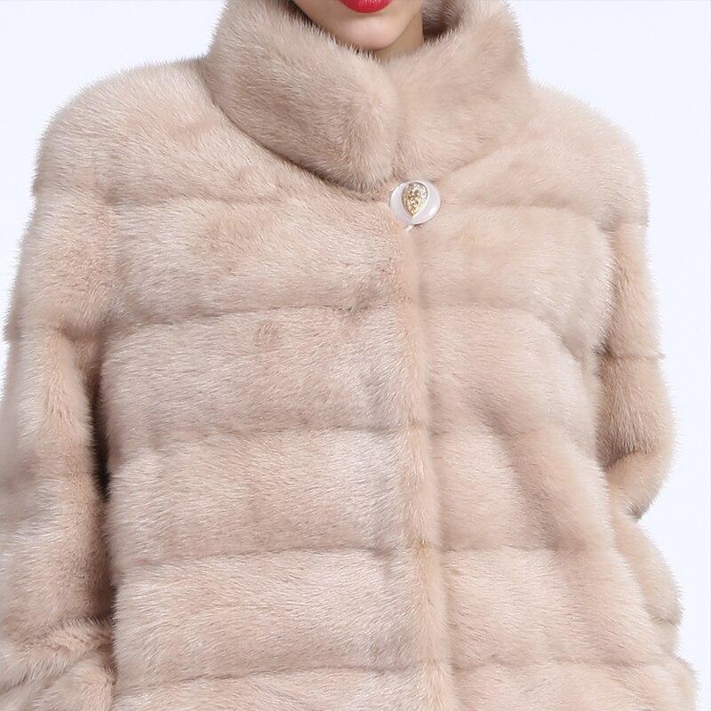 SISILIA 2016 Baru wanita mantel bulu nyata, Kulit Asli, bulu mantel - Pakaian Wanita - Foto 5