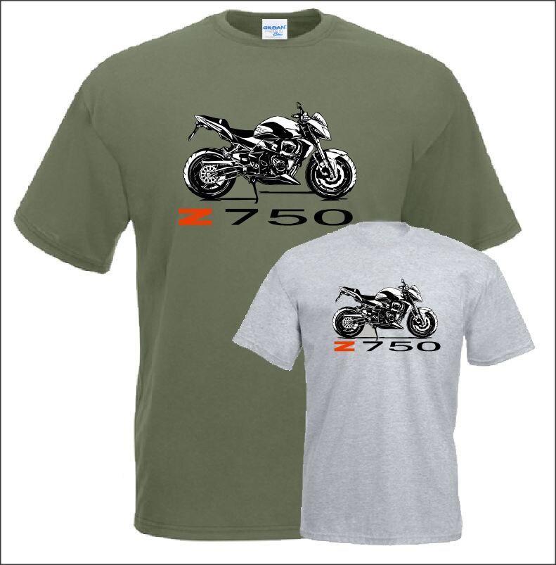2017 New Hot Sale 100% cotoon Short Sleeve Casual Top T shirt 100% Cotton Shirt Z 750 T-Shirt Motorcycle Fans Tee Shirt