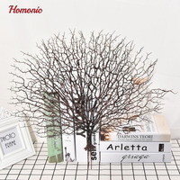 Wedding Decoration Peacock Coral Branch Wooden Decoration Tree Dried Plants White Tree Branches Artificial Plant Decor