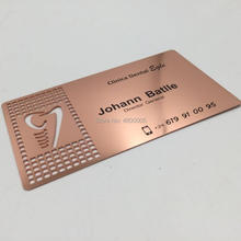 Free design Rose gold metal business card printing 500pcs double faced printing paper business card free design business card printing free shipping n0 1011