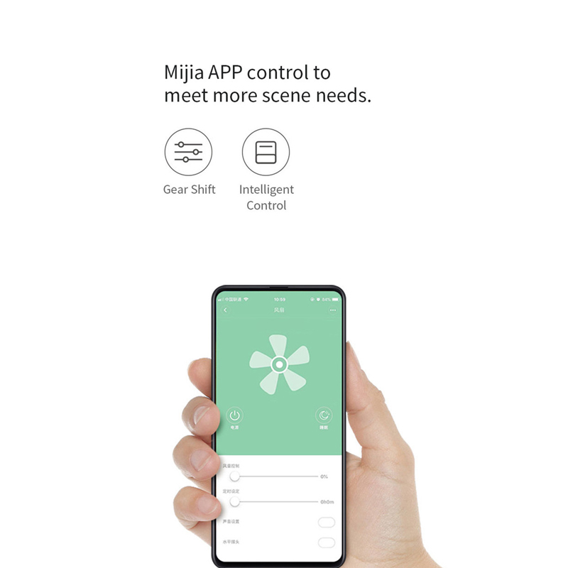 New Xiaomi Rosou SS4 Intelligent Bladeless Fan Mijia APP Control/Remote  Control 11 Speed Natural Wind Timing Fan For Home Office