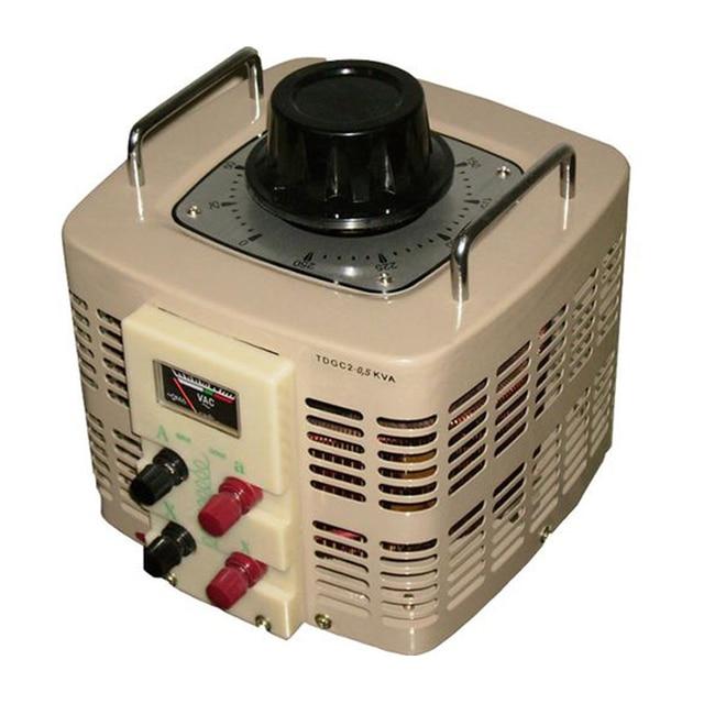 Автотрансформатор РЕСАНТА TDGC2-0,5K 0,5KVA (Мощность 500Вт, максимальная сила тока 2А, температура использования от 1 до 40 С, класс защиты IP20)