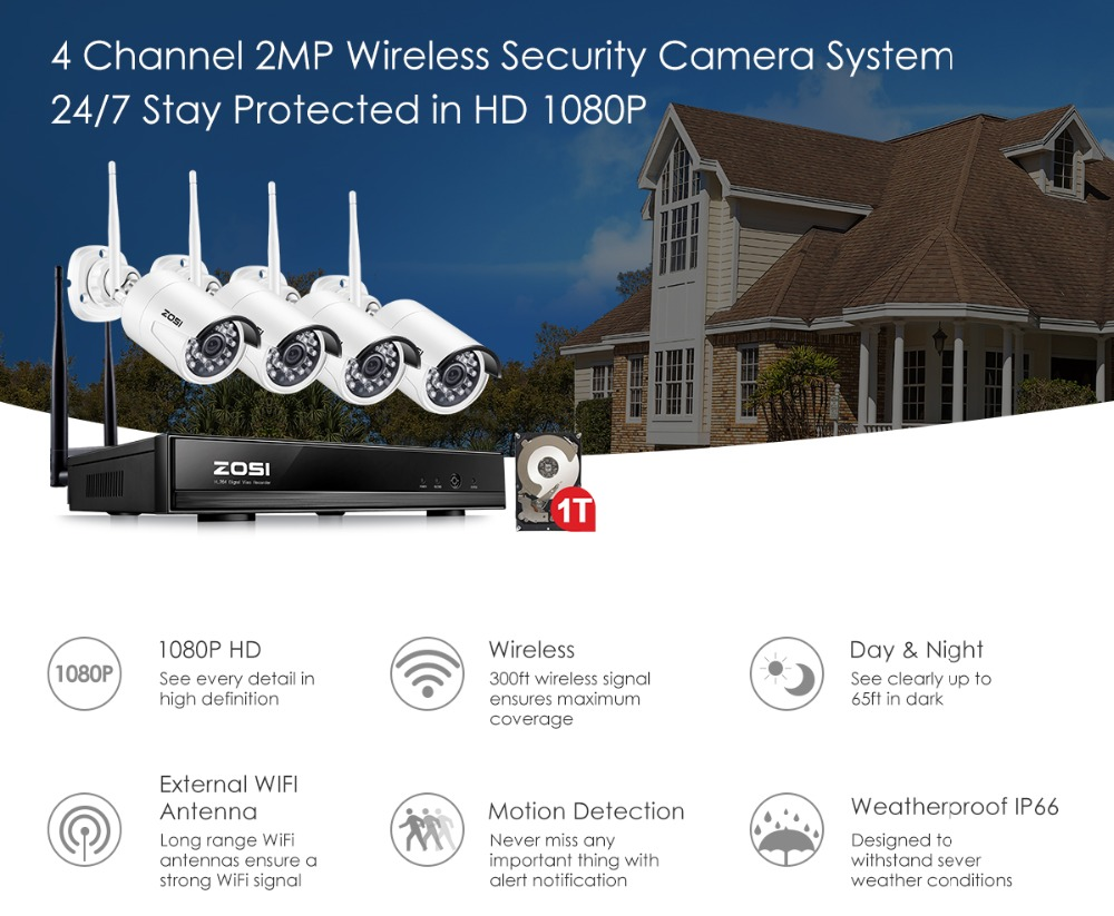 home camera system 1080P+NVR+1T_01