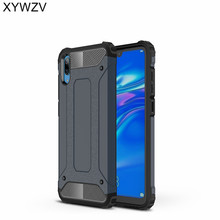 hot deal buy xywzv cover huawei enjoy 9 case shockproof armor rubber hard pc phone case for huawei enjoy 9 back cover huawei enjoy 9 fundas ^