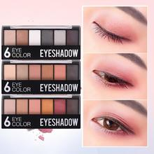 New Arrival Charming Eyeshadow 6 Color Eye shadow Palette Make up Palette Shimmer Pigmented Eye Shadow Powder Fashion Color недорого