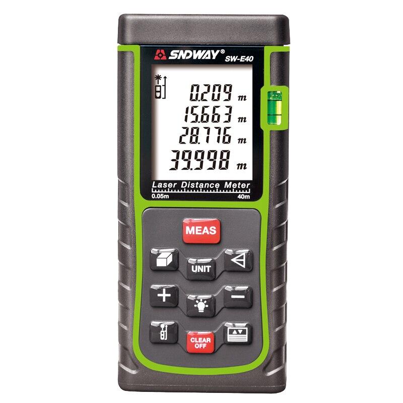 SNDWAY Laser Rangefinder 40M Laser Roulette Measuring tape Laser Distance Meter Rangefinders for Hunting цена