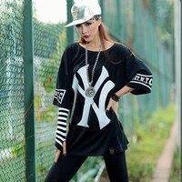 2017 New Hip Hop Dance Clothes Streetwear Fashion 3M Reflective Skeleton Women T Shirt Printed Tops