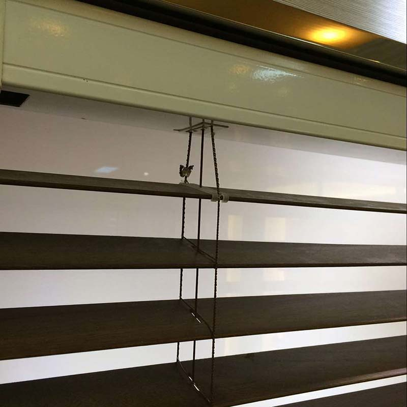 bamboo window shade, faux wood blind, motorized wooden venetian blind