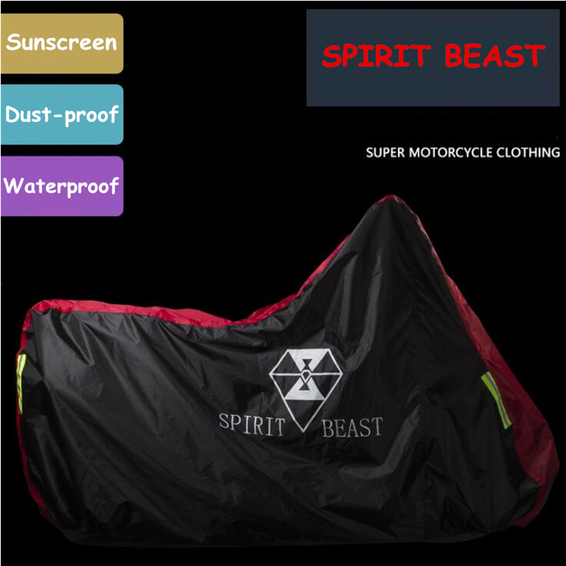 SPIRIT BEAST High Quality Waterproof Outdoor Motorcycle Moto Cover Electric Bicycle Covers Motor Rain Coat Waterproof Suitable