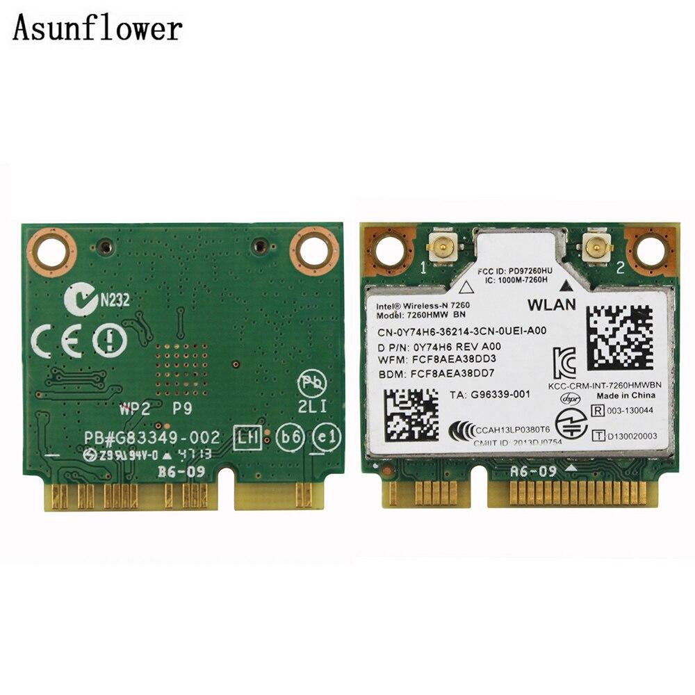 Tarjeta de red inalámbrica para Intel Wireless 300 Mbps 802,11 7260HMW BN WIFI Bluetooth 4,0 PCI-E tarjeta Wifi