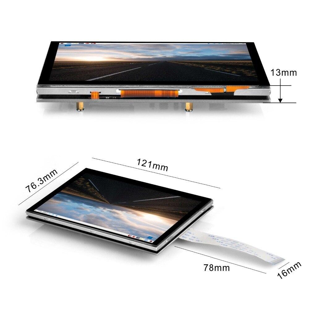 5 pouces 800x480 Raspberry Pi TFT écran tactile DSI connecteur LCD Support d'affichage framboise, Ubuntu MATE, Kali, système de RetroPie - 4