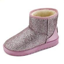 Женские снегоступы Сапоги и ботинки для девочек толстые Мех утепленные туфли на плоской подошве ботильоны на платформе женские Обувь для зимы