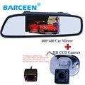 Assistência de estacionamento, HD 4.3 LCD a Cores Espelho Retrovisor Do Carro + CCD Câmara de Visão Traseira para Hyundai Verna Solaris Sedan/Para Kia Forte