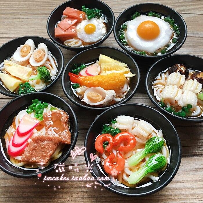 Creative Boeuf Fruits De Mer Légumes Oeuf Japonais Ramen Solide Alimentaire Réfrigérateur Aimant 3D Réfrigérateur Aimant Autocollant Voyage Souvenir Décoration