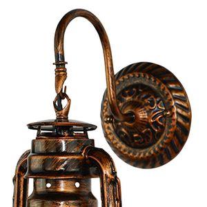 Image 5 - בציר LED קיר מנורת נפט רטרו קיר אור פנס אסם אירופאי כפרי עתיק סגנון WF4458037