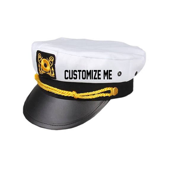 280d2244c9a custom nautical wedding bridesmaid bride hats marina Captains hats  Bachelorette birthday Lets Get Nauti get ship faced -in Party Hats from  Home   Garden on ...