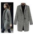 Diseñar un nuevo invierno 2017 abrigo gris capa de polvo femenina de mediano a largo plazo, gran moda Europea