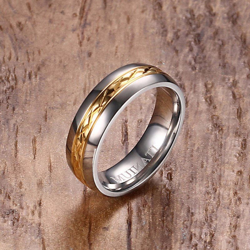 Bridal & Wedding Party Jewelry Engagement & Wedding Stainless Steel Brown Plated Brushed Center 8mm Wedding Ring Band Size 10.00 Latest Technology