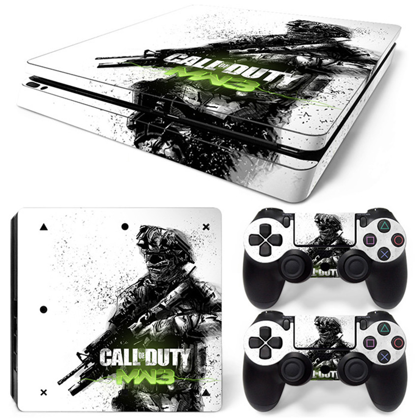 Professional Games Host Skins Controller Stickers PS4 Slim Military War Solider Tags for Playstation 4 Slim T-PS4-Slim-009