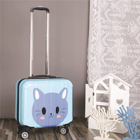 ZYJ Customizable Girls Boys Travel Trolley Luggage kids Cute Alloy Rolling Airplane Suitcase Trunk 18 inch Luggage