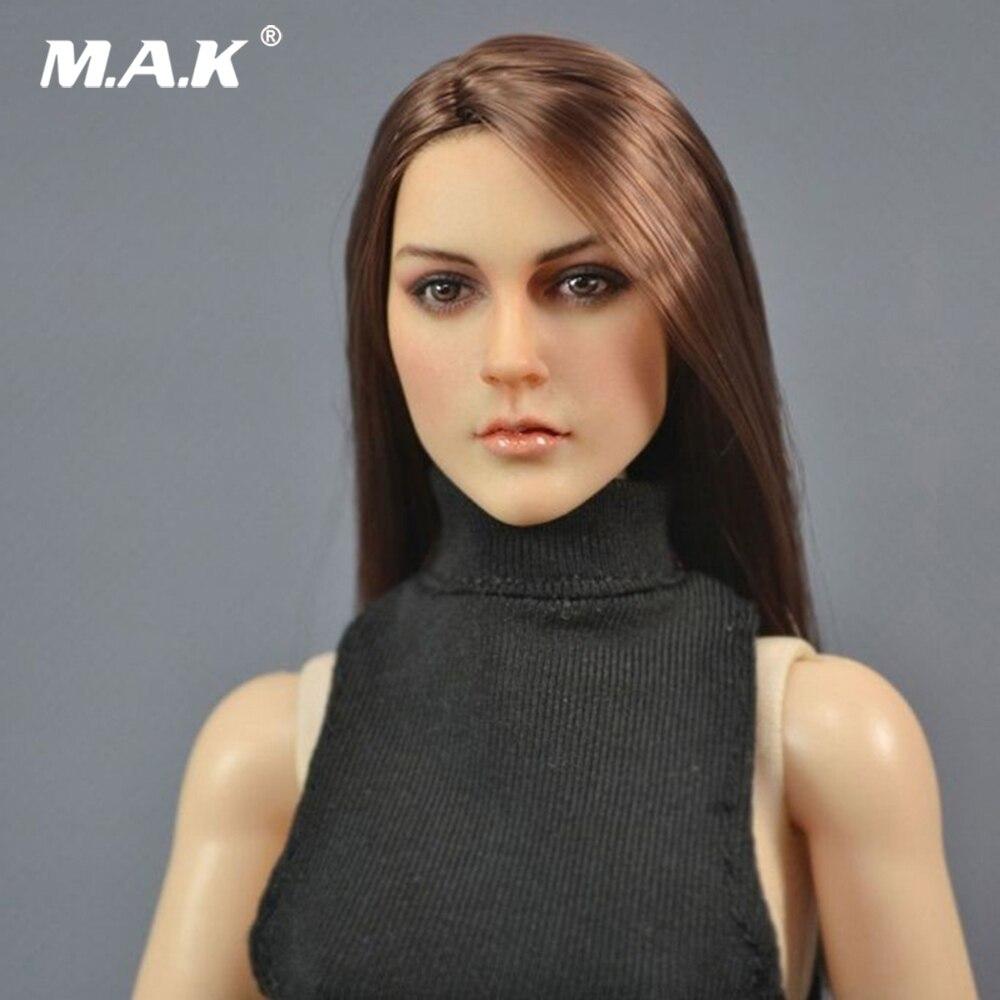 """1//6 Female Long Hair Head Sculpt KT005 For 12/"""" TBLeague PHICEN Hot Toys Figure"""