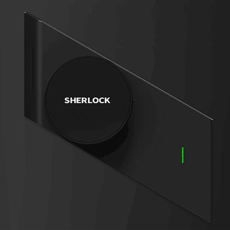 In StockSherlock Smart lock S2 mijia Smart door lock Keyless Fingerprint+Password work to Mi home app phone control