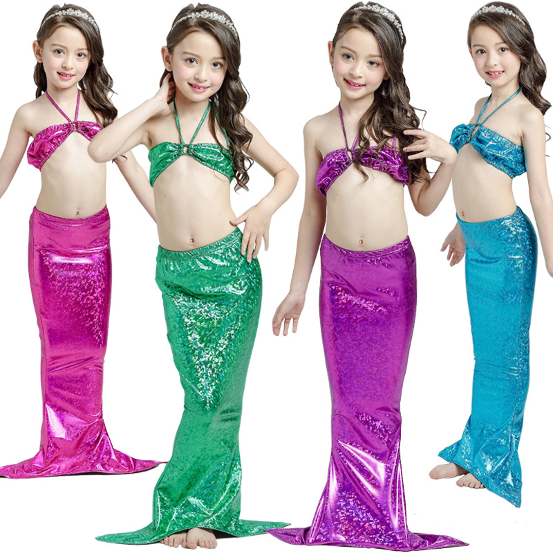Child Mermaid Tail Costume Cos Princess Ariel The Little Mermaid Dress For Girl Halloween Cosplay Kids Dress Suit Costume
