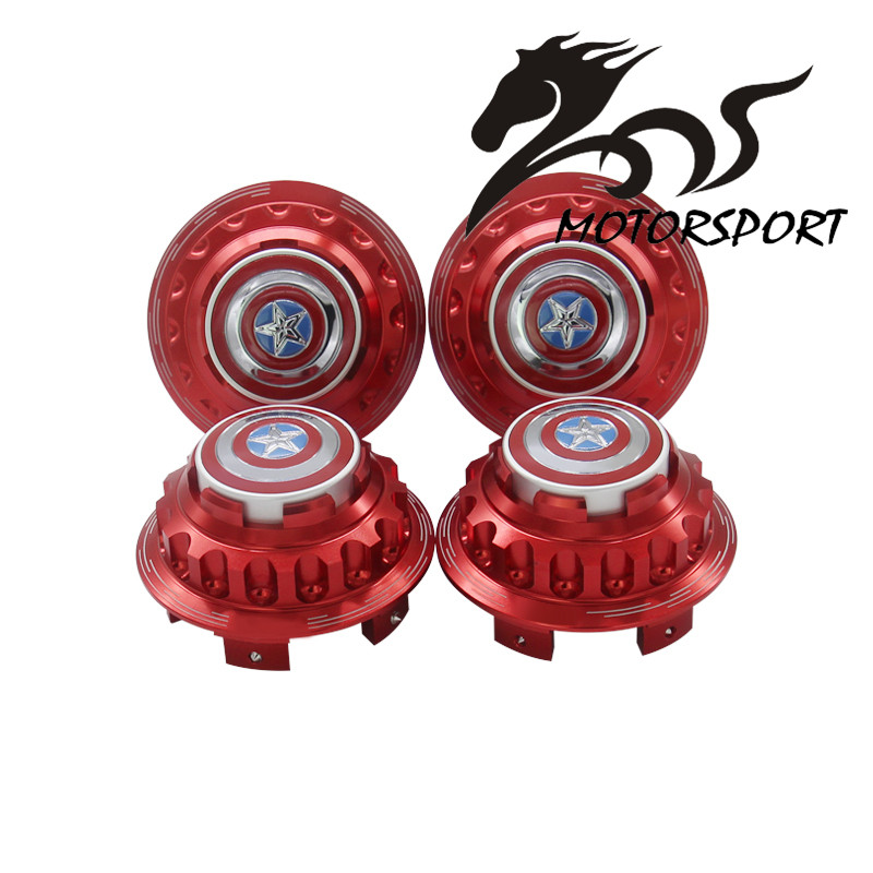 ФОТО Aluminum Captain America logo WHEEL HUB CENTER HUB CAPS COVER FIT FOR HONDA Civic Accord 1set =4 pcs