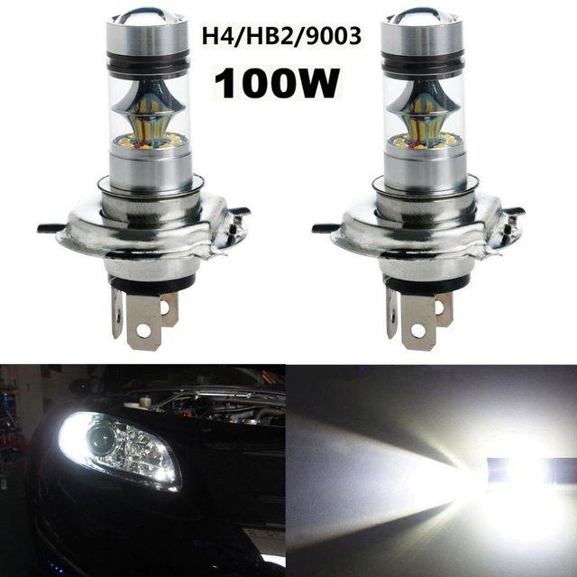 2Pcs High Power Car H4 7000K LED Bulbs 100W Fog Lamps Bright White XBD LED Driving.jpg 640x640 Résultat Supérieur 15 Nouveau Ampoule Led 100w Stock 2017 Xzw1
