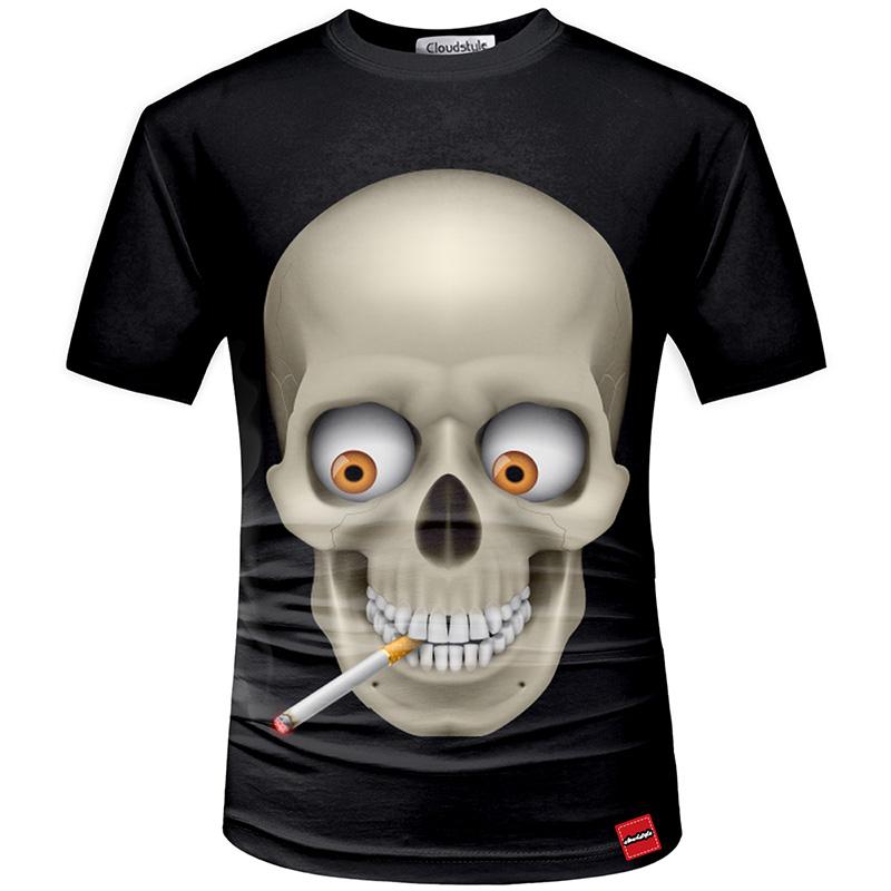 HTB1im9FSFXXXXapaXXXq6xXFXXXA - Men's New Fashion 2018 - Quality 3D Skull Print Design Stylish Casual T-Shirt