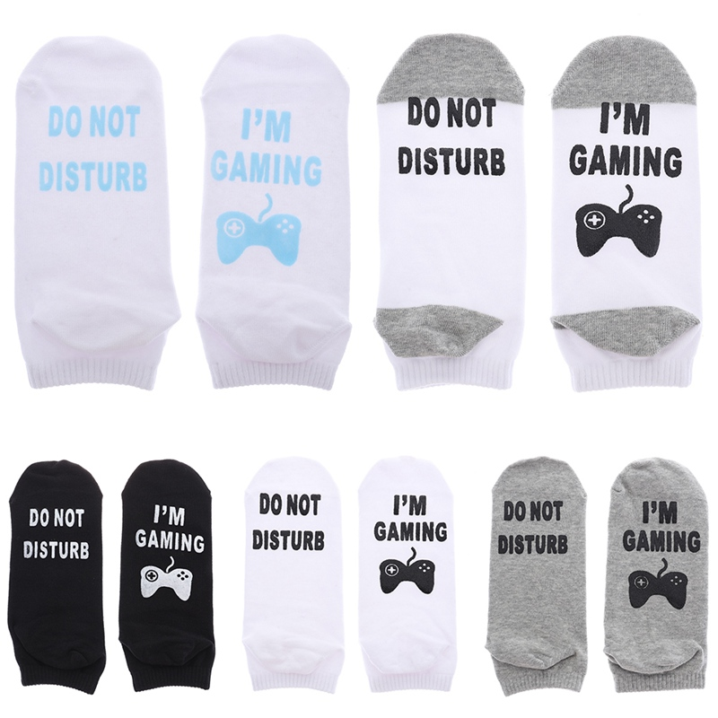 New Unisex Novelty Socks Do Not Disturb I Am Gaming Funny Letter Printed Socks