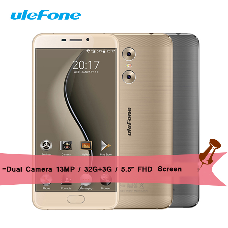 Ulefone Gemini Smartphone MT6737T 1 5GHz Quad Core Android 6 0 32G ROM 3G RAM 5