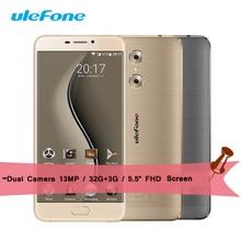 Gemeos Ulefone Smartphone MT6737T 1.5 GHz Quad Core Android 6.0 32G ROM 3G RAM 5.5 Polegada OTG Telefones Celulares 13.0MP Frente Toque ID