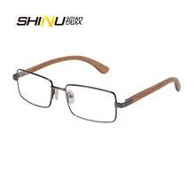 New Fashion Brand Designer Metal Wooden Optical Glasses Frame Women Men Prescription Eyeglasses Frames Full Frame Eyewear 2728
