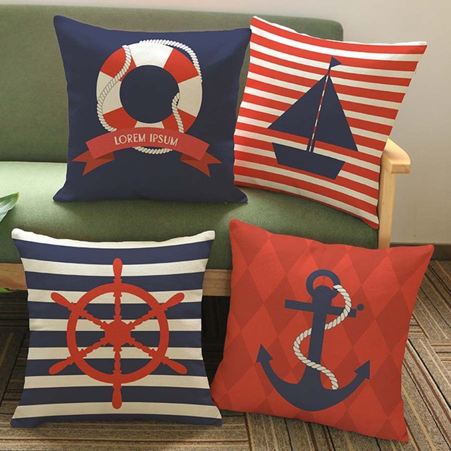new year decoration pillows cushion sailing boat anchor gift pillow cushions christmas decorations for home almofada