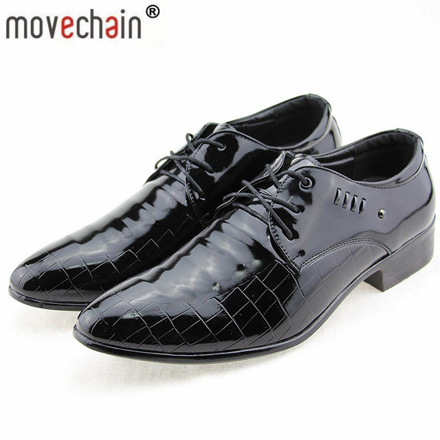 Movechain Men S Business Basic Flat Shoes Mens Wedding Dress Luxury Brand Wearing British Man
