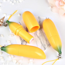 1pc Empty Banana Design Lipstick Tube Cute Creative lip Balm Bottle Cosmetic Container Tube travel spray free ems shipping cosmetic metal filling mould for lipstick lip balm plus 24 pcs lip balm tube for testing