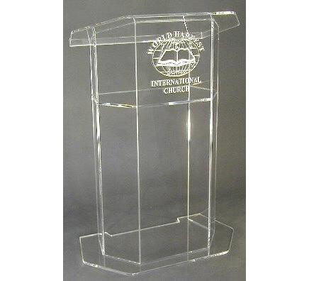 Hot Sale Free Shiping Customized Acrylic Church Lectern / Pulpit / Lectern / Podium Cheap Church Podium