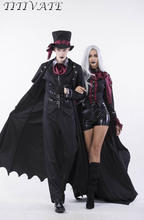 TITIVATE Halloween Vampire Costume Gothic Steampunk Masquerade Carnival Party Stage Performance Cosplay Outfit Uniform For Women