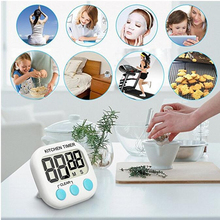 цена на 1Pc Digital Timer New Magnetic LCD Digital Kitchen Countdown Timer Alarm Stand Kitchen Timer Practical Cooking Timer Alarm Clock