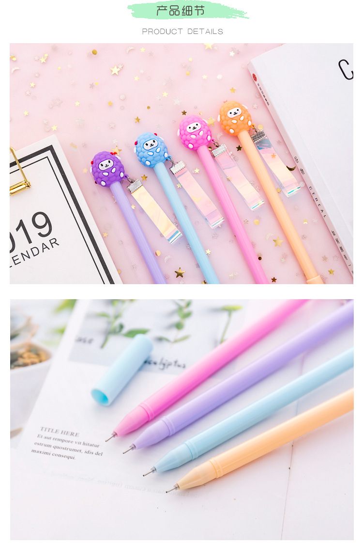 Obedient Kawaii Flamingo Unicorn Ballpoint Pen 10 Color Rollerball Pens For Girl Gift School Office Supply Stationery Pens, Pencils & Writing Supplies Ballpoint Pens