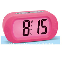 Cheap Silicon Digital LED Light Alarm Table Clocks With Snooze Function Environmental Material Desk Digital Clocks LED Backlight