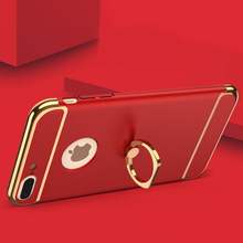 KISSCASE Cases Ring Phone Holder Cover For Apple iPhone 7 Plus Case 2 in 1 Combo For iPhone 7 iPhone 7 Plus Case Accessories Bag
