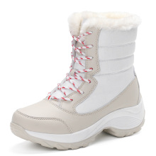 2016 women snow boots winter warm boots thick bottom platform waterproof ankle boots for women thick fur cotton shoes size 35-41