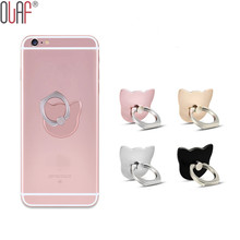360 Degree Finger Ring Mobile Phone Holders For iPhone 7 i6 i5 iPad Cat Shaped Smartphone Stand Holder For Xiaomi Samsung
