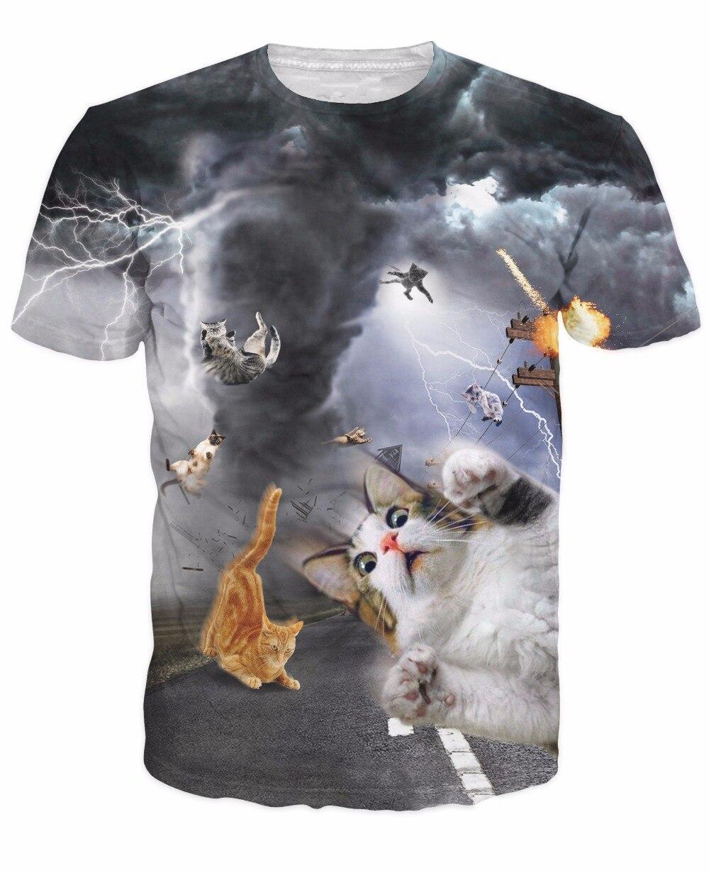 Summer t shirt women men 3d animal t shirt funny galaxy space cat