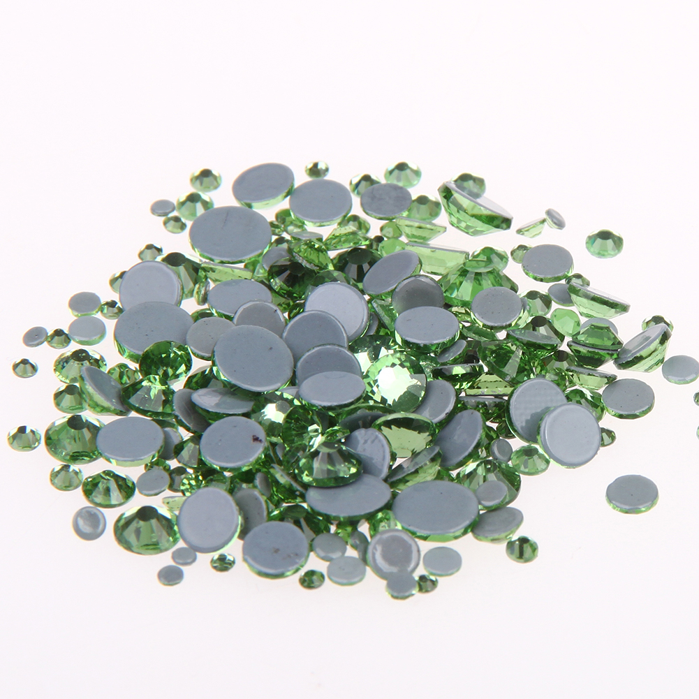 Crystal Hotfix DIY Rhinestones For Nails ss6-ss30 And Mixed Peridot Strass Nail Art Glass Stone Glitter Decoration Design super shiny 1440p ss6 2mm crystal light green peridot nail rhinestones non hotfix rhinestones nail art decoration