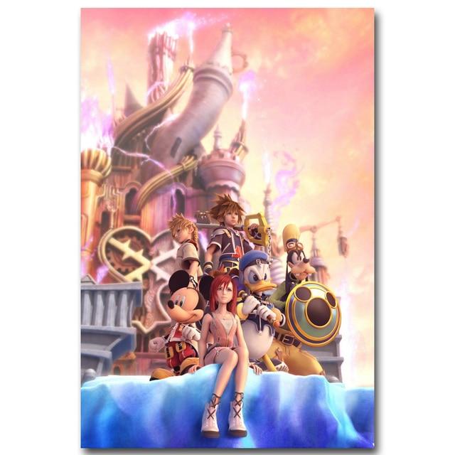 Шелковый Плакат гобелен Kingdom hearts вариант 2